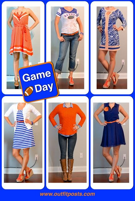 Outfit Posts: outfit post: orange and blue game day looks