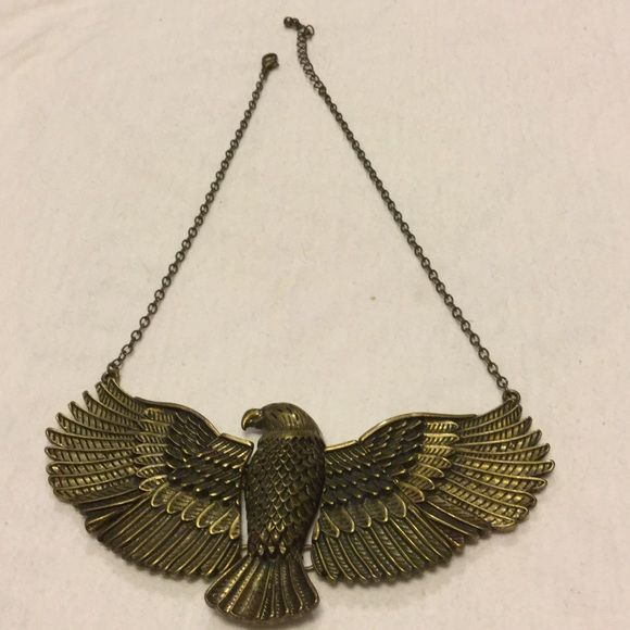 "American Eagle United States necklace Measures 9 1/2"" drop...pendant 5"" x 2 1/2"" Lucy lue Jewelry Necklaces"