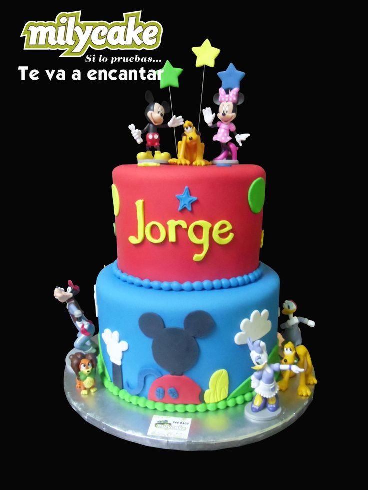 Mickey Mouse club house fondant cake   Pasteles Mily Cake   Pinterest
