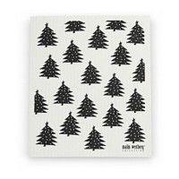 Vaatdoek 'Zwarte Kerstbomen' - Malin Westberg