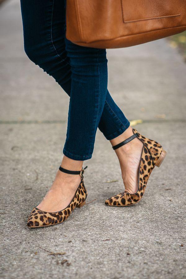 Leopard print flats.