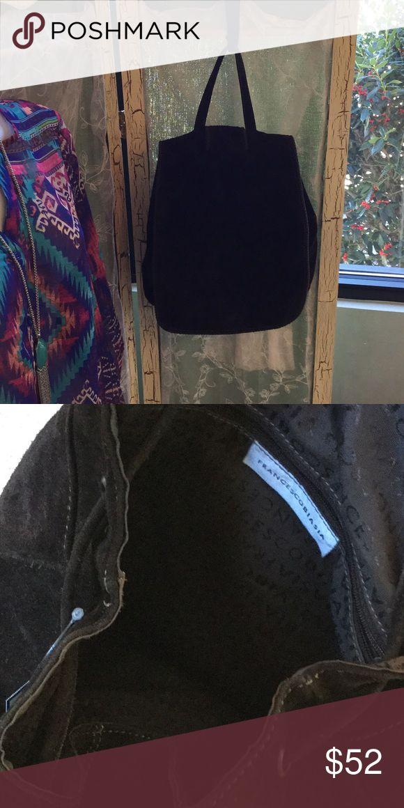 Francesco Biasia backpack Brown suede Francesco Biasia single strap backpack Francesco Biasia Bags Backpacks