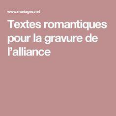 Textes romantiques pour la gravure de l'alliance