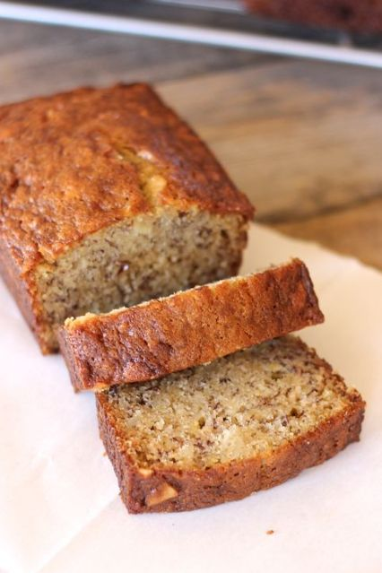 Greek Yogurt Banana Bread - tastes identical to my usual banana bread recipe but has less fat and a little extra protein too