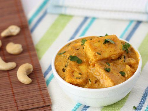 Malai Paneer - Shallow Fried Paneer Cubes in Fresh Cream Gravy