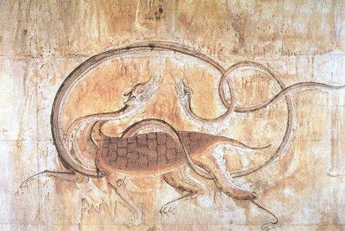 korean art three kingdoms | Korea, Three Kingdoms Period. Tortoise & Snake, from Great Tomb of ...