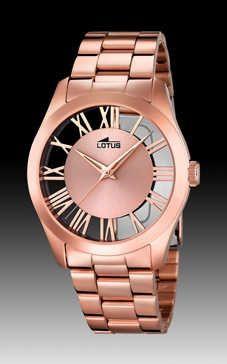 Reloj Lotus mujer acero IP Rosa. Colección Trendy.