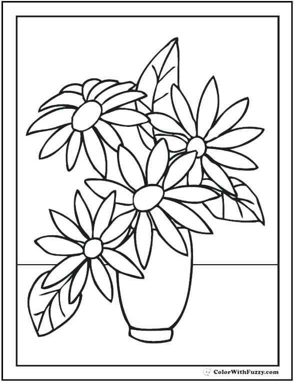 Colouring Pages For Seniors Flower Coloring Sheets Flower Drawing Printable Flower Coloring Pages