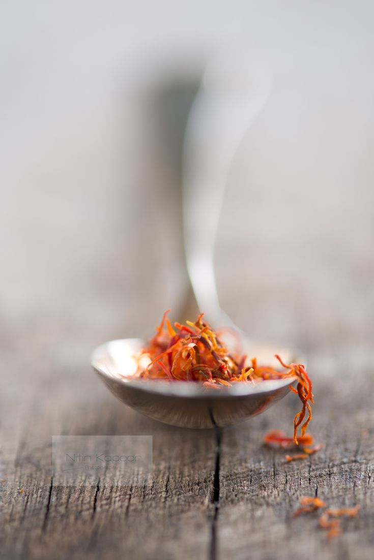 Saffron. love the texture of the table