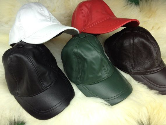 Real leather cap in 5 different colours. by BeFur on Etsy, €18.50