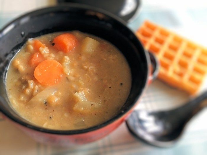 Soupmaker Recipe & Pot: Vegetarian Haggis Soup