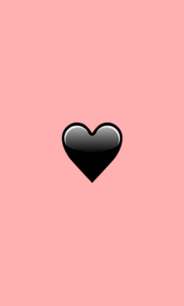 сердце на черном фоне картинки на айфон