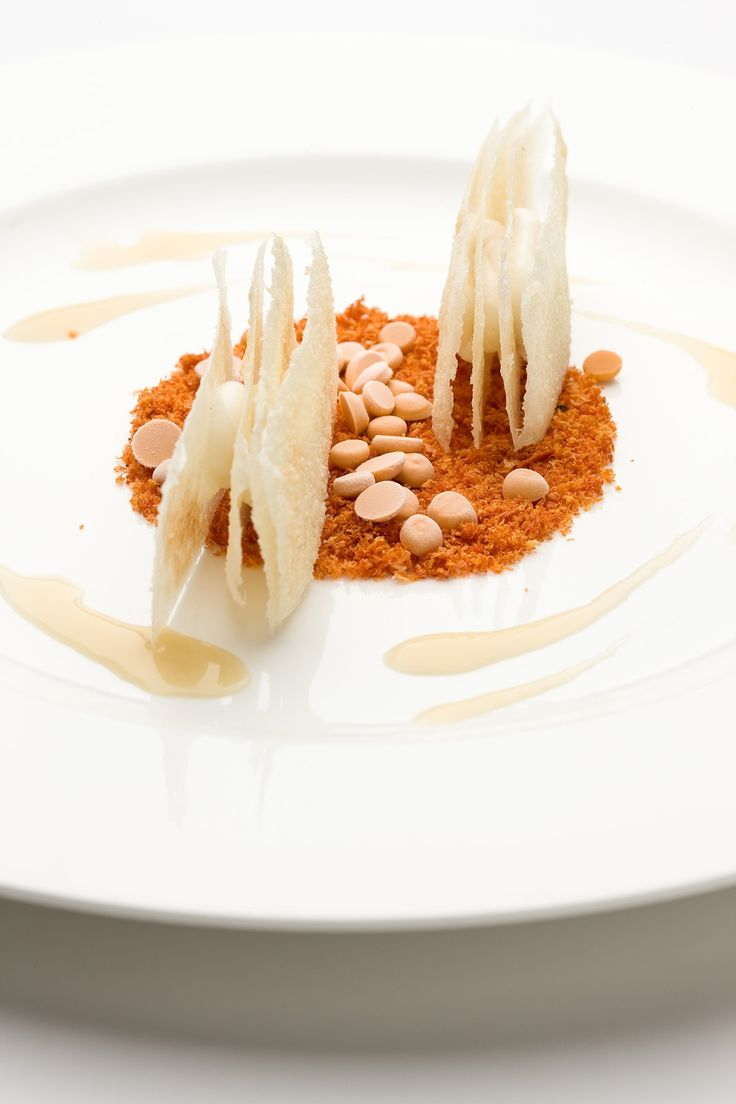 One of chef Andrea Berton's creative culinary inventions: Veal ragù with rice lasagna