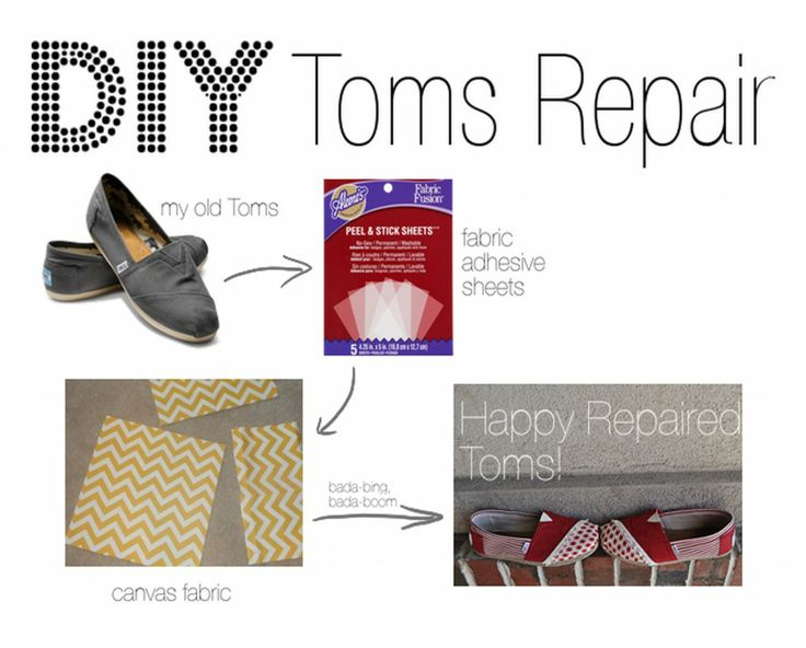 DIY Toms shoes repair #DIY
