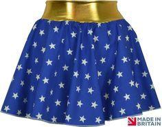 Sexy Wonder Woman Style Fancy Dress Superhero Skirt outfit Costume Plus Size UK