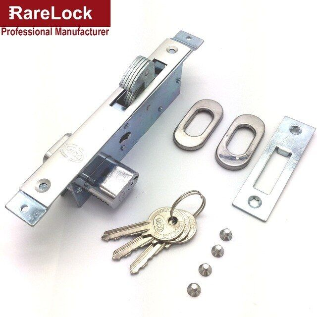 Rarelock Christmas Supplies Sliding Door Lock With 3 Keys For Bedroom Bathroom Accessory Diy Home Hardware A R Home Hardware Bathroom Accessories Sliding Doors