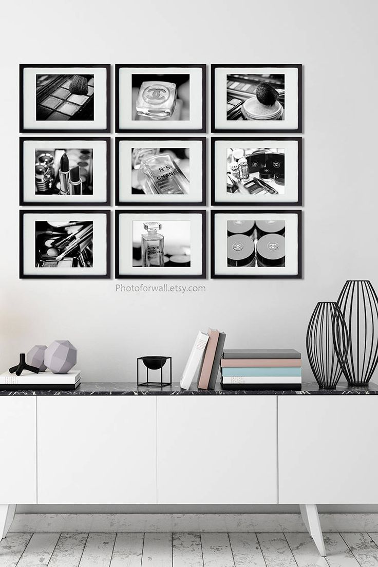 Black and white prints for bathroom - Chanel Girl Room Decor Black And White Photography Chanel Bathroom Set Of 9 Makeup Print Bathroom Art Nursery Decor Girl Teen Decor Makeup