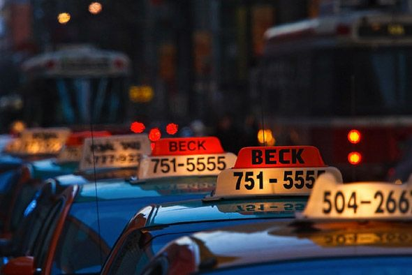 Cabs are widely available to flag down on the street, however here are a few taxi numbers for the downtown Toronto area:  Beck – 416-751-5555 Diamond – 416-366-6868 Co-op – 416-504-2667. Taking a trip from Pearson International Airpot to Union Station in an airport limo currently costs $58; it's about $55 by taxi. Taxis will accept cash and credit cards.