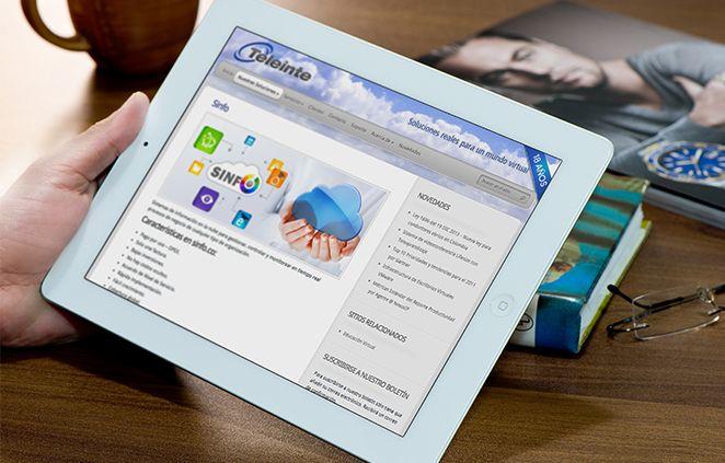 Diseño de Sitio Web Teleinte implementado en Wordpress con el uso de pluggins Cforms y Jquery