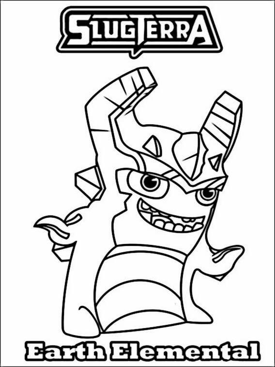 Slugterra Ghoul Water Elemental Printable Coloring Page ...   758x568