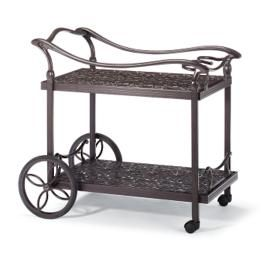 Orleans Serving Cart in Chocolate Finish