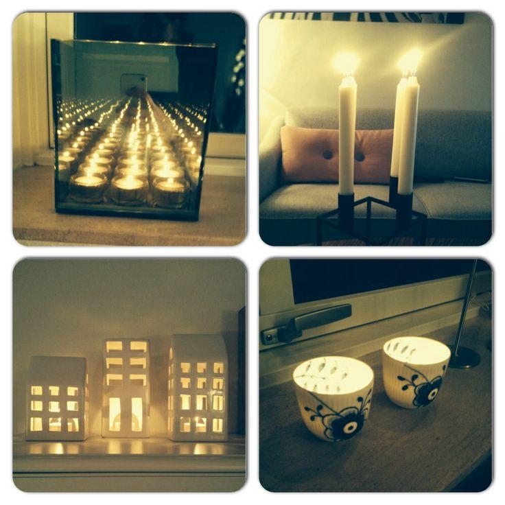 Levende lys i hjemmet ❤️