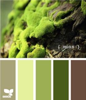 color: Color Palettes, Design Seeds, Color Inspiration, Moss Green, Moss Color, Colors, Living Room, Colour Palette