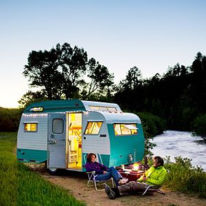 Stylish trailer vacation home | Vacation home on wheels | Sunset.com: Vintage Trailers, Serro Scottie, Campers Makeovers, Old Campers, Vintage Caravan, Wheels, Camps Trailers, Scottie Trailers, Vintage Campers