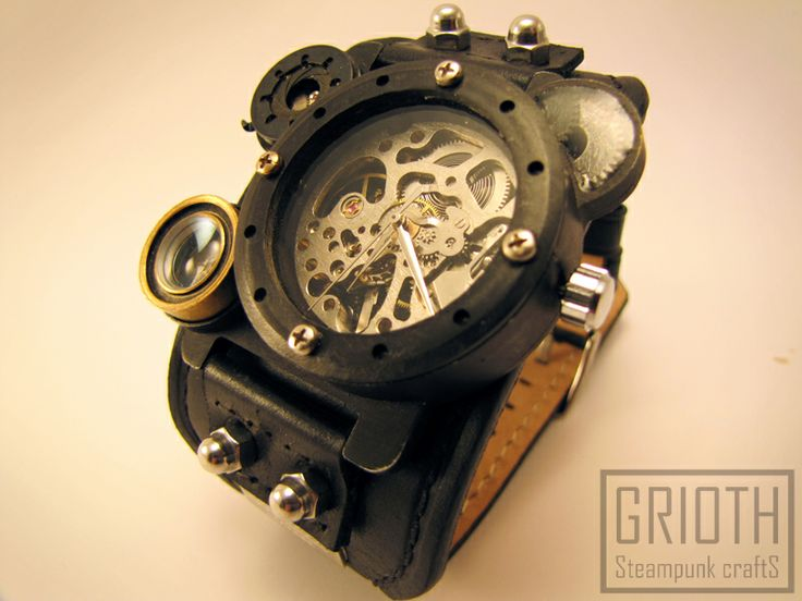 Steampunk and custom watch by GRIOTH, set: I-RIS2