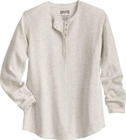 Women's Longtail T Waffle Henley Shirt