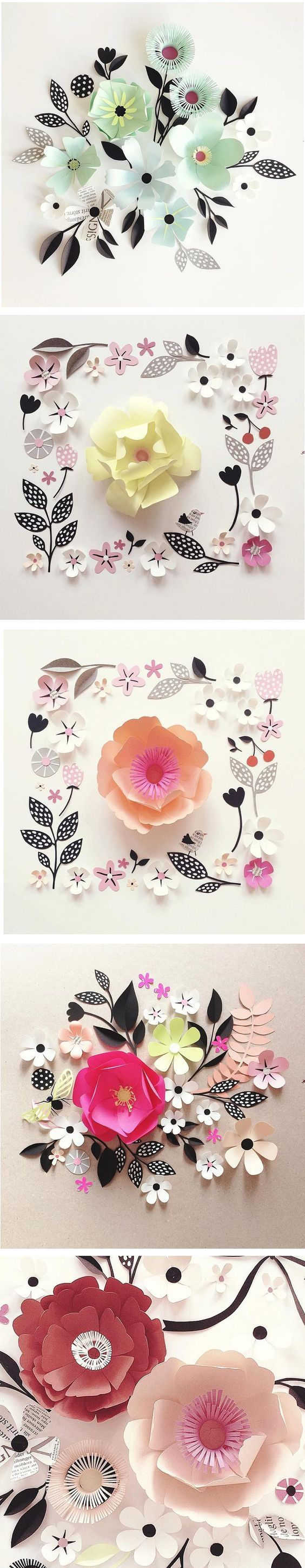 Hanna Nyman has always had an affinity for flowers. Now, she creates beautiful blooms out of paper and arranges them into eye-pleasing compositions.