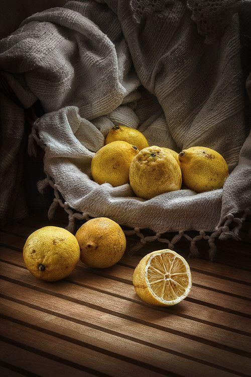 Lemon still - life photograph - Lemons with a vintage feel |