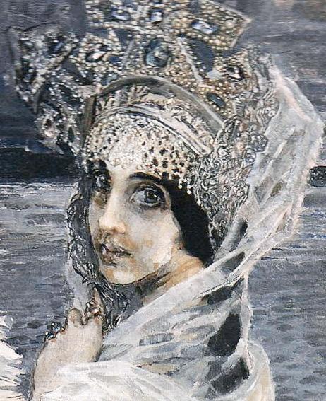 "Michail Alexandrowitsch Vrubel ""Nadezhda Zabela-Vrubel – The Swan Princess"", detail"