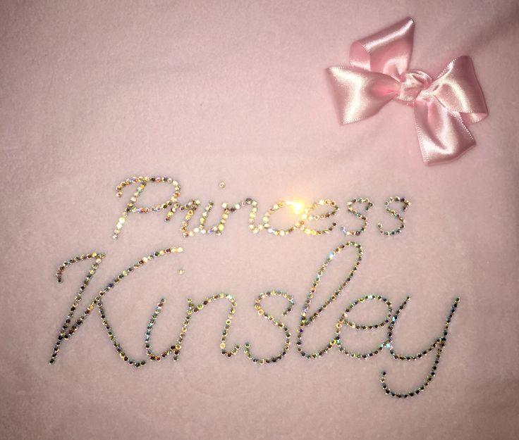 Princess Kinsley's personalised baby bling blanket xxx
