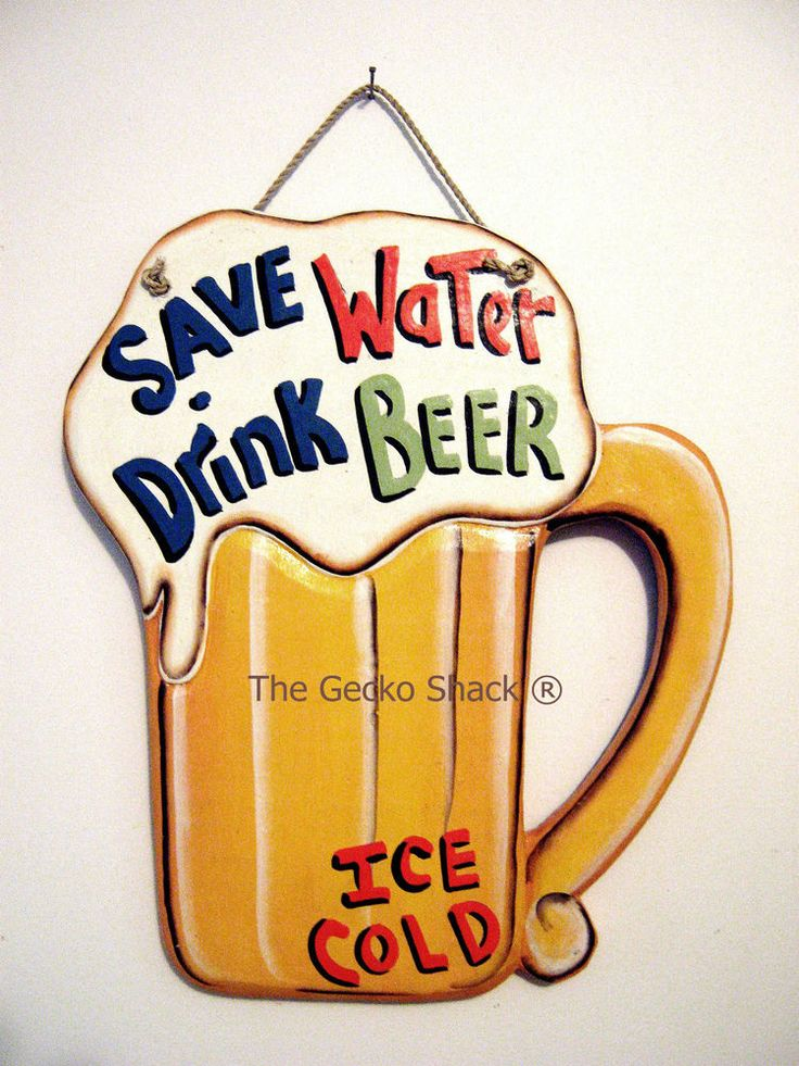 The perfect gift for dad's man cave - Save Water Drink Beer - Cool Wall Sign Bar Home & Garden Party Tropical Fun
