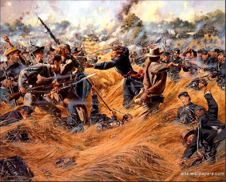 Battle in the wheat field | American Civil War | Pinterest ...