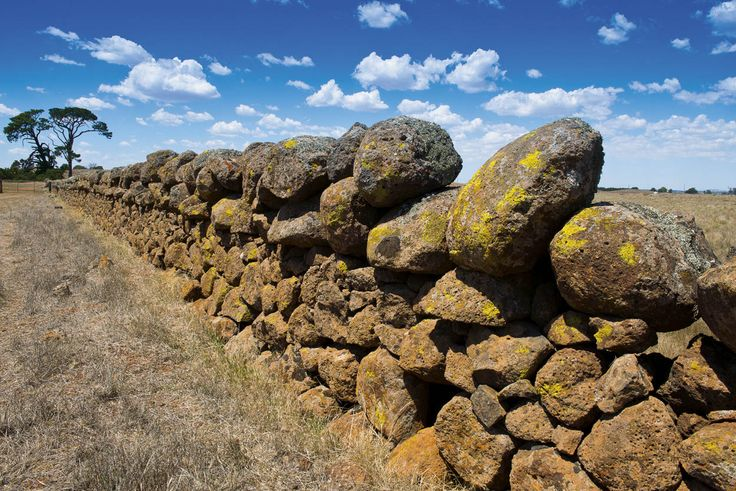 RoyalAuto, July, 2016. Victoria's cool mountains of fire. A dry-stone wall at Stockyard Hill. Photo: Don Fuchs #volcano #volcanoes #victoria #victoriasvolcanoes #volcanicvictoria #stockyardhill #stone #stonewall #drystonewall