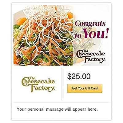 The Cheesecake Factory Gift Cards - E-mail Delivery -- See this awesome image  : Gift cards