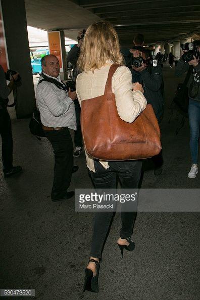 Photo d'actualité : Actress Virginie Efira arrives at Nice airport...