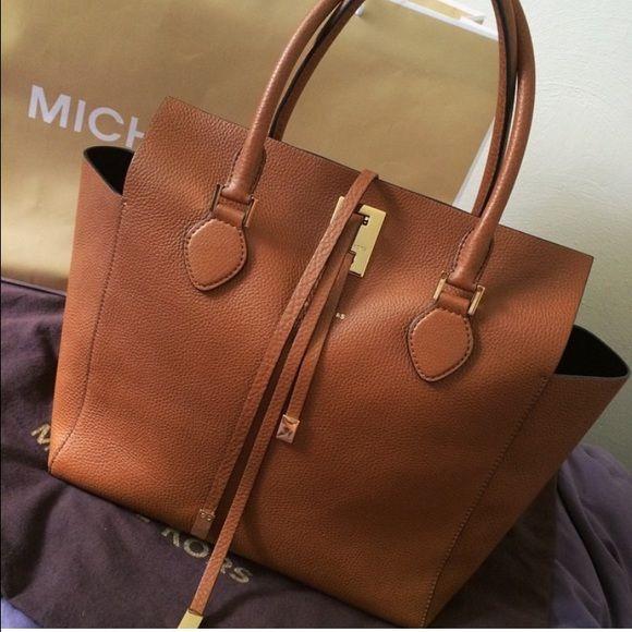 Michael Kors Miranda tote Michael Kors collection - Miranda tote - luggage color - comes with dust bag and tag Michael Kors Bags Shoulder Bags