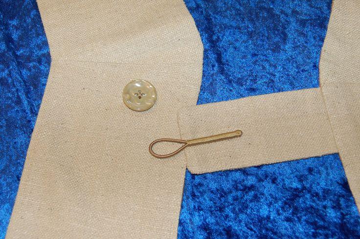 Deacon's Stole, button loop closure 1.15.17