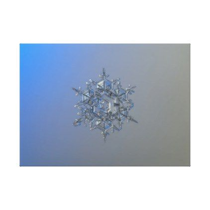 Real snowflake photo - Crystal of chaos and order Canvas Print - photos gifts image diy customize gift idea