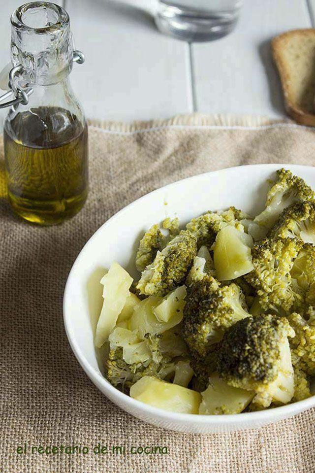 Brocoli cocido con patatas | El recetario de mi cocina