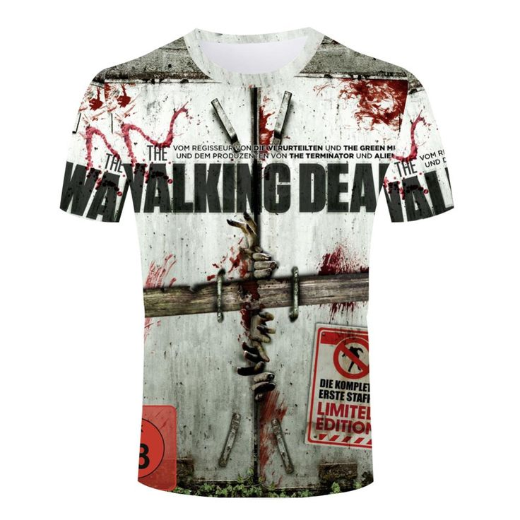 Summer The Walking Dead Breathable T Shirt  Male 3d Printed Tee Shirt High Quality Man t-shirts Wholesale Crew Neck Short Sleeve //Price: $19.98 & FREE Shipping //     #carlgrimes
