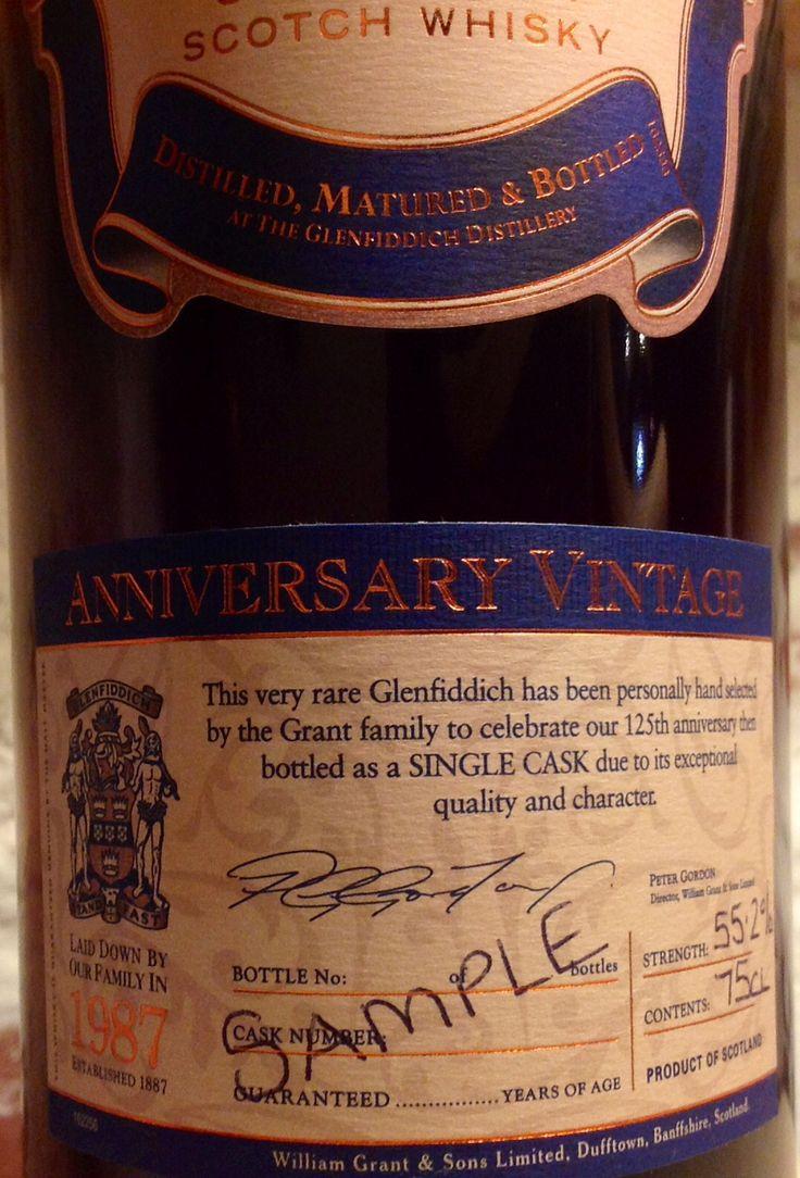 Glenfiddich 1987 Vintage 25yo 55.2% (286 bottles)