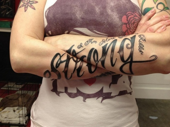"""Strong"" - one ofthe most awesome tats I've seen!"