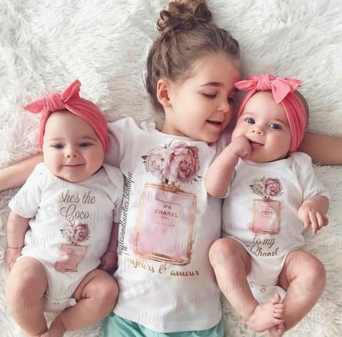 Shes the COCO Mother Daughter Twinning Designer to my Chanel Onesie/Shirt  These delightful shirts will warm the hearts of moms and grandmas this upcoming mothers day! Whether its your very first mothers day together with your little, or you have had countless numbers of mothers day memories already made, go ahead and show a little extra love on May 14, after all you deserve for the world to know just how AMAZING you are - If theres one thing I know this mothers day, there aint no mama in…