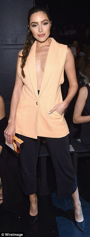 Olivia Culpo and Madison Beer coordinate at NYFW show #dailymail