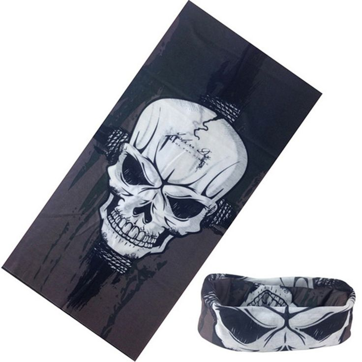 Bicycle Sport Skull Bandana Face Mask Neck Gaiter Muffler Ski Cap Tube Scarf Men Cycling Bike Outdoor Headwear
