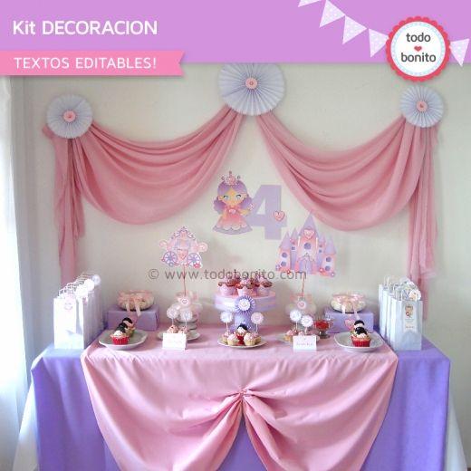 Princesa decoraci n de fiesta princesas pinterest for Decoracion de princesas